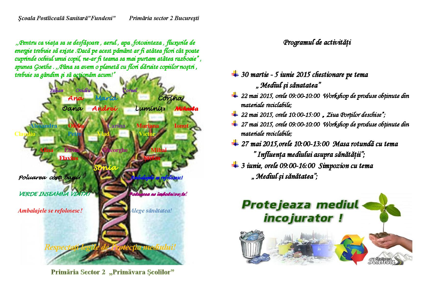 privamavara scolilor 2015